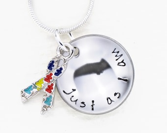 Autism Awareness Necklace | Just As I Am Autism Awareness | Hand Stamped Necklace | Fundraiser Jewelry | Cause Jewelry | Awareness Jewelry