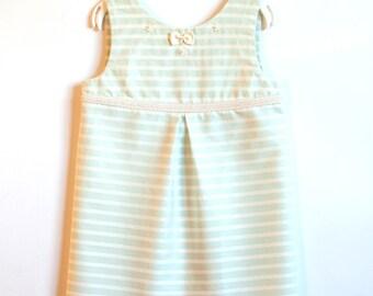 Pistache Striped Dress 3T Girl Toddler Girl Dress Girl Toddler Dress For Toddler Wedding Dress Toddler Elegant Toddler Girls Birthday Dress