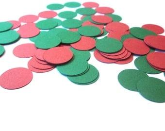 Christmas Confetti, Holiday Party Decor, Christmas Party Decor, Red and Green Confetti