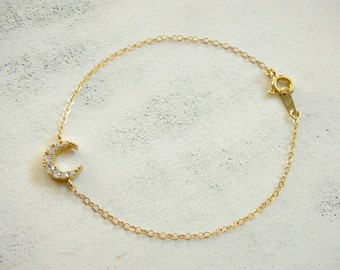 New Moon - Glam bracelet 14 K