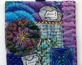 Inspiration Art Quilt, Miniature Quilt, Home Decor, Hand Stitched Quilt, Quilt Gifts, 5x5