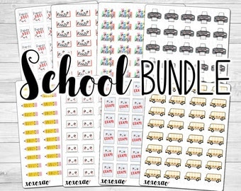 School Bundle Stickers (8 sticker sheets)
