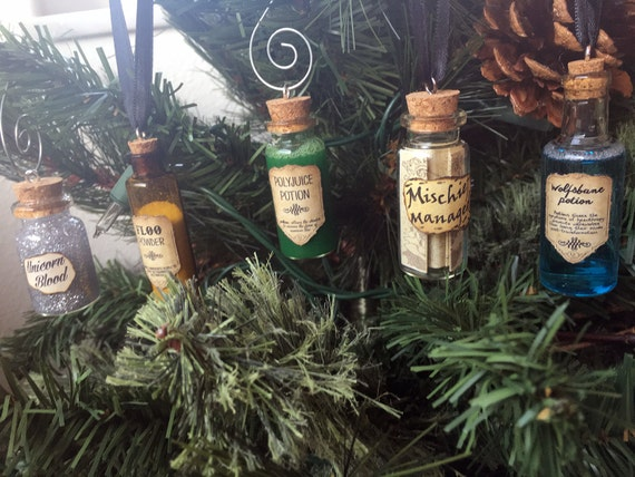 Harry Potter Potions Ornaments by TayPop