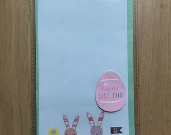 Spring List Pad Magnetic  - Bunnies