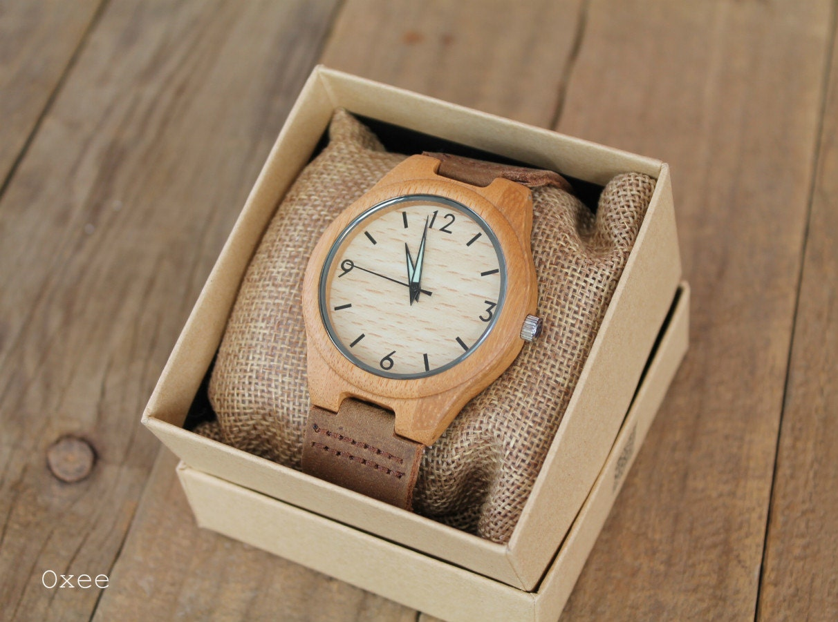 Personalized engraved wood men watch bamboo wooden watches for Watches engraved