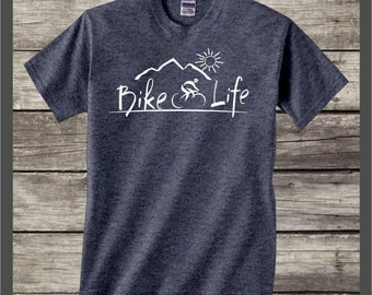 Bike Life t-shirt #079 bicycle,mountain biking,bicycle tee shirt camping,outdoors,fun,country,camper,road biking gifts,cyclist shirt gift