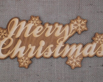 Rustic Wooden Merry Christmas