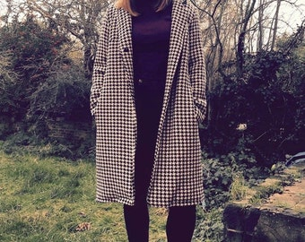 Houndstooth Coat Fully Lined with Pockets