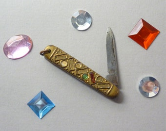 1930s Art Deco Lady's Penknife with Rhinestones