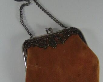 Art Nouveau Leather Coin/Change Purse -