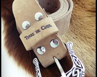 Belt buckle ELFIC - vegetable tanned leather croupon