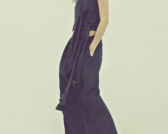 SALE Black Open Back Linen Vest, Backless Linen Jacket, Minimalist Fashion by ILMNE