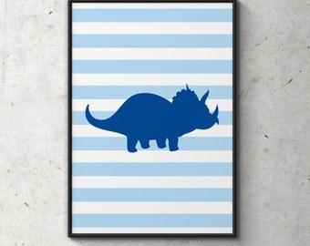 Dinosaur Poster, Gift Idea, Wall Art, Illustration, Nursery Room, Children's Room, Children's Art, Kids Room Decor, Digital Print