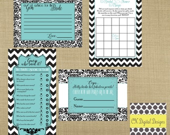 Breakfast at Tiffany's Bridal Shower Printable Party Games