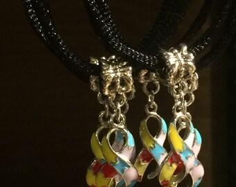 Autism Awareness Ribbon Necklace