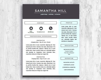 Resume Templates For Pages | Creative CV Design | Resume Template For Word  | Modern CV  Resume Templates For Mac Pages