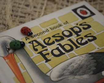 A Second Book of Aesop's Fables. A Vintage Children's Ladybird Book.