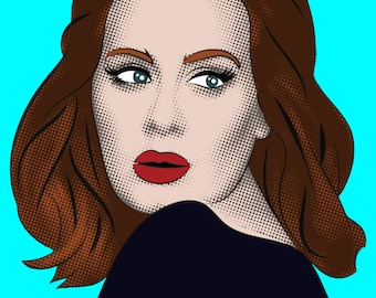 Custom Pop Art Portrait. Gift Portrait. Mothers Day Present. Lichtenstein Style.