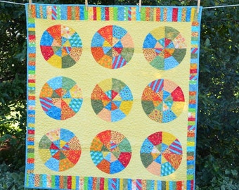 Bright Circles Baby/Lap Quilt