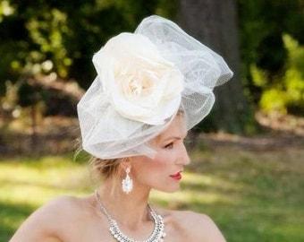 Custom, Couture Bridal Headpiece - Courtney