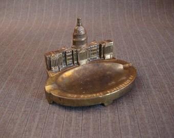 The Capitol Ashtray, Washington D.C., Brass [Vintage]