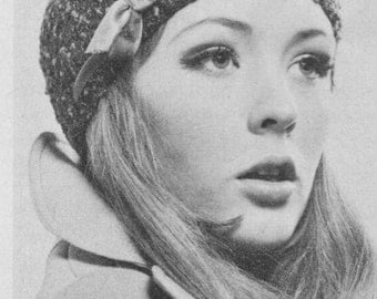 Vintage Knitted Cloche Hat Pattern