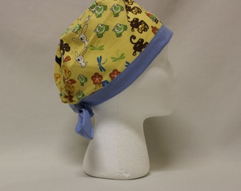 Japan Nature, Animals, and Sumo Surgical Scrub Cap Chemo Dental Hat