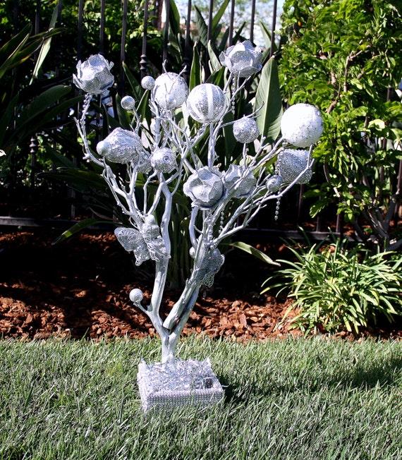 28 Inches Silver Manzanita Tree Wedding Centerpiece By MazuriYako