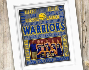 Basketball Gifts Basketball Coach Gift Basketball Team Gift Personalized Basketball Girls Basketball Team Printable Basketball Subway Art