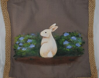 Bunny Hollow Pillow cover with pillow