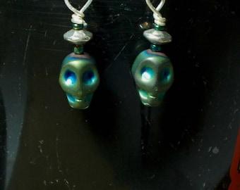 Alien Earrings - handmade