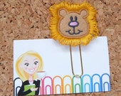 Felt LION Paper Clip   Bookmark   Planner Paper Clip   Refrigerator Magnet   Cute Brooch Pin   Calendar   Planner Accessory   224
