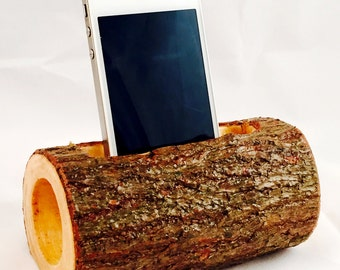 Natural Wood Acoustic Amplifier for Cell Phone or MP3 Player