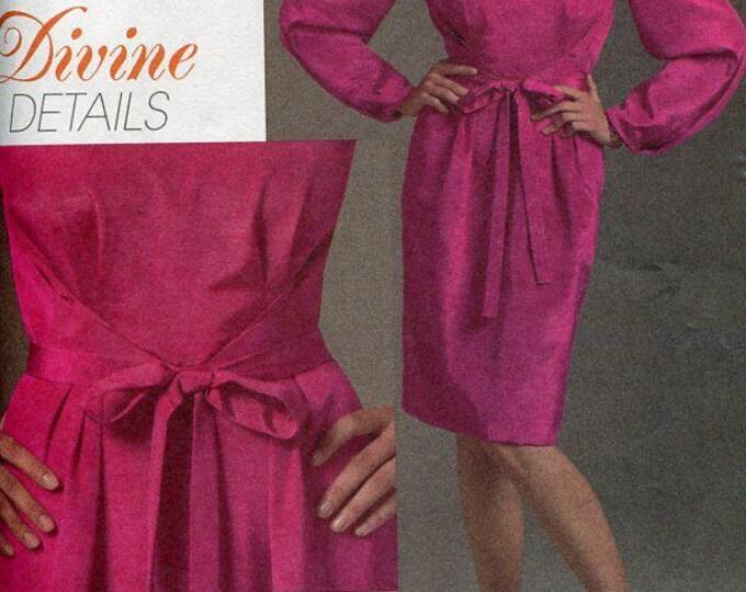 FREE US SHIP Vogue 8444 Divine Details Dress 2007 Size 6 8 10 Bust 30 31 32 Sewing Pattern Uncut ff Out of Print