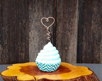 Wire Cupcake Toppers, Wire Heart, Cupcake Topper, Cupcake Decoration, Bridal Shower Decor, Party Decorations, Custom Cupcake Picks, Cupcakes