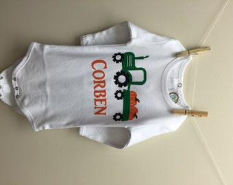 Child's Personalized Fall Tractor Shirt