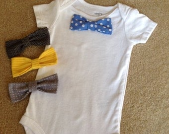 Onesie with Set of Four Bow Ties