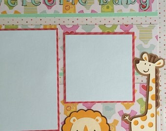 Baby Boy Baby Girl Premade Scrapbook Pages