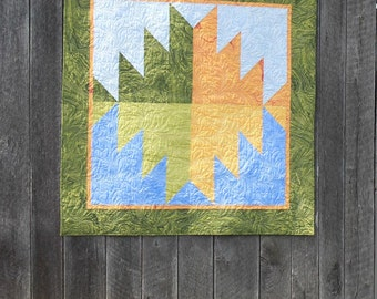 "Quilt PATTERN ""Mountain Reflections"" Barn Block Quilt 5"