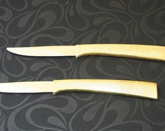 Carvell Hall Gold Electroplated Stainless Steel Steak Knives