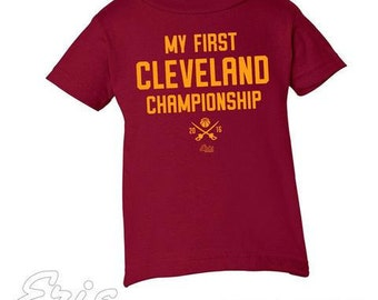 My First Cleveland Championship shirt - Available in youth sizes