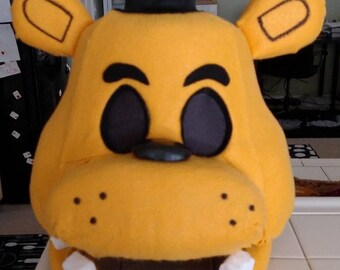 Golden Freddy FNAF Costume Mask!  Movable Jaw!!  Five Nights at Freddy's!
