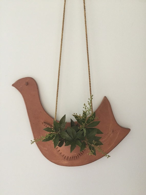 Air Plant Wall Holder Rustic Pottery Terra Cotta Clay
