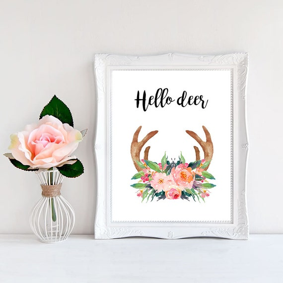 Best Wall Decor On Etsy : Items similar to hello deer cabin decor rustic