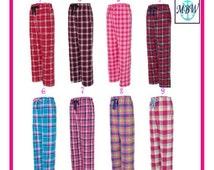 Monogrammed Flannel Pants, monogrammed pants, flannel pants, personalized pajamas, monogrammed pajamas, personalized flannel pants- pf02