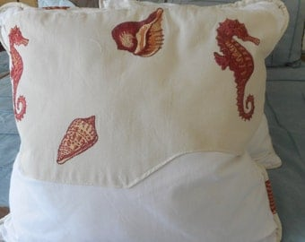 "Happy Seahorse Throw Pillow, 19.99 each, 20""x 20"", Qty 2"