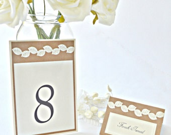 Leaf wedding table numbers, fall table numbers, rustic table numbers, table numbers, wedding table numbers, leaf table numbers
