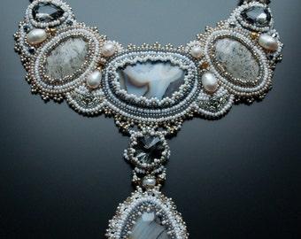 """Wedding necklace, bride necklace, wedding jewelry set, wedding necklace bridal jewelry, statement wedding necklace, necklace """"ELENA"""""""