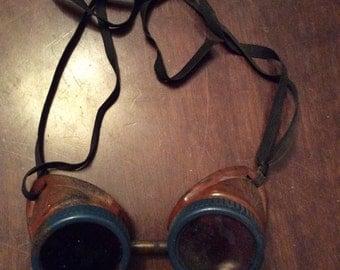 Antique Aviator Driving Bakelite Goggles