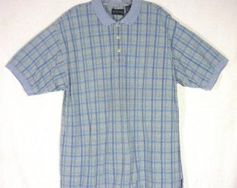 Gant Shirt Vintage 1980s Mens Skyblue Polo Golf Short Sleeve Pullover Cotton  Size XL Rockabilly Preppy